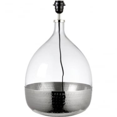 Sultan table lamp - Clear glass & bright nickel - Base only