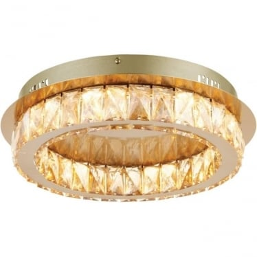 Swayze single light flush fitting - Brushed brass