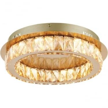 Swayze single light flush fitting - Brushed brass