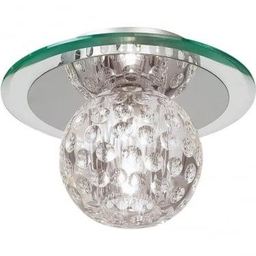 Tarota single flush fitting - Chrome plate & clear crystal glass