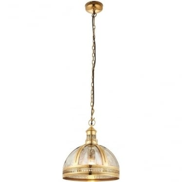 Vienna half pendant - Brass & mercury glass