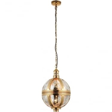 Vienna pendant 305mm - Brass & mercury glass