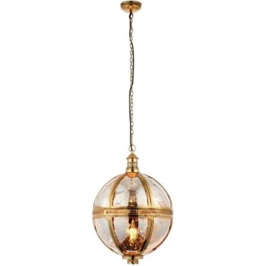 Vienna pendant 410mm - Brass & mercury glass