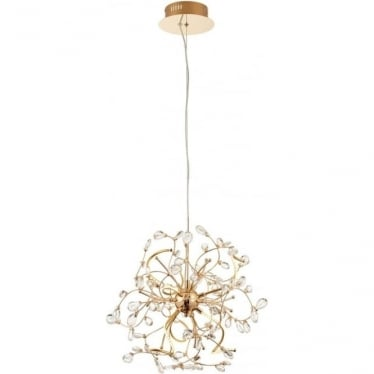 Willa 6 Light pendant - Gold