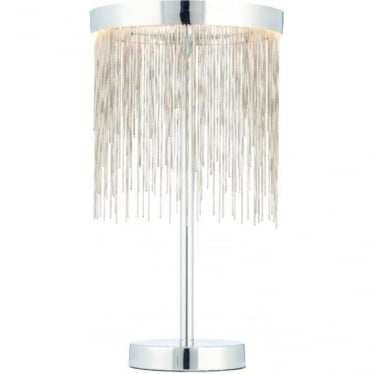 Zelma table lamp - Chrome plate & silver effect chain