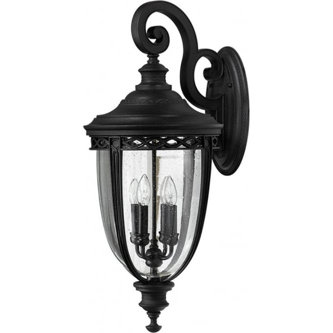 Feiss English Bridle extra large wall lantern - Black