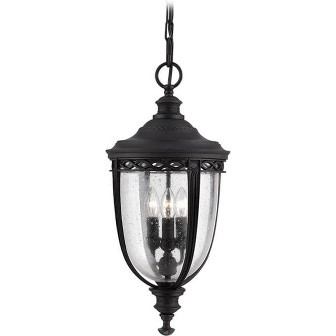 Feiss English Bridle large chain lantern - Black