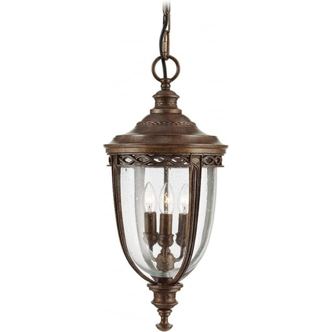 Feiss English Bridle large chain lantern - British Bronze