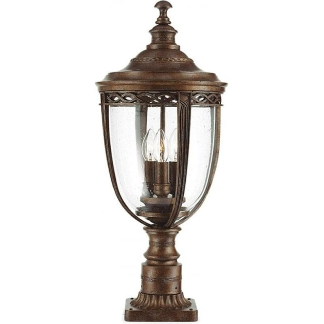 Feiss English Bridle large pedestal - British Bronze
