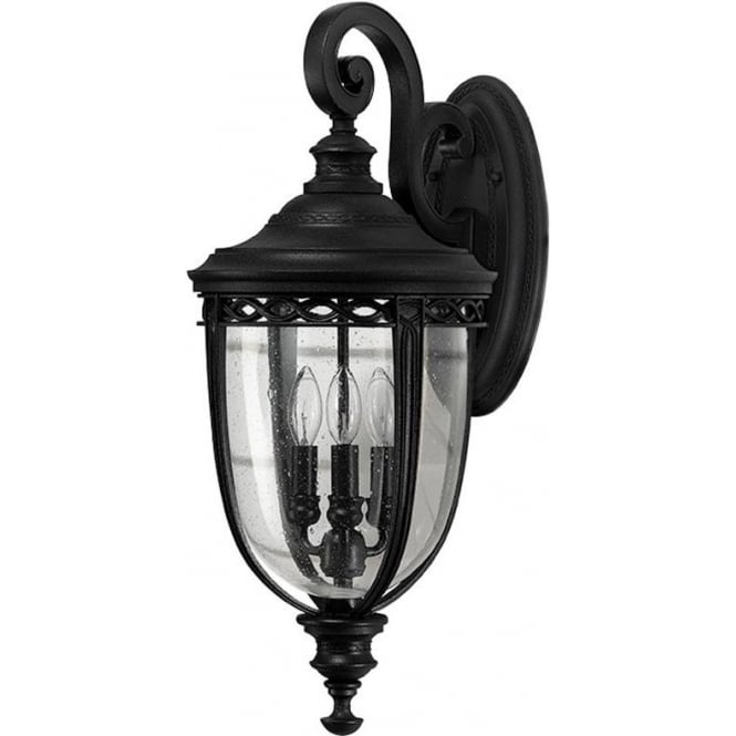 Feiss English Bridle large wall lantern - Black