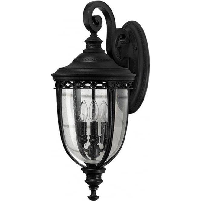 Feiss English Bridle large wall lantern - Black