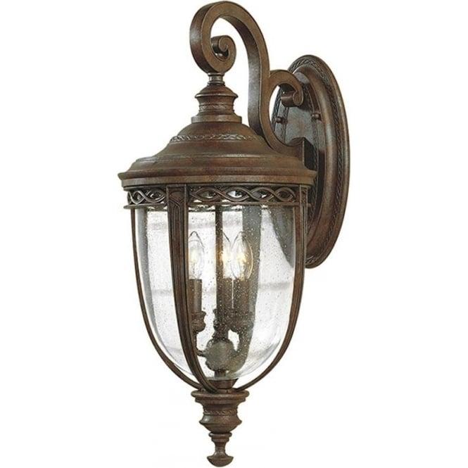 Feiss English Bridle large wall lantern - British Bronze