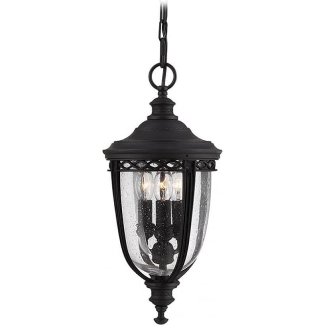 Feiss English Bridle medium chain lantern - Black