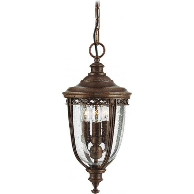 Feiss English Bridle medium chain lantern - British Bronze