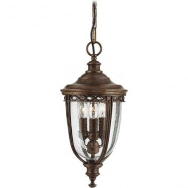 English Bridle medium chain lantern - British Bronze