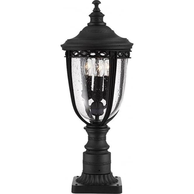 Feiss English Bridle medium pedestal - Black