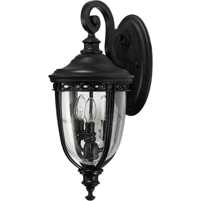 Feiss English Bridle medium wall lantern - Black