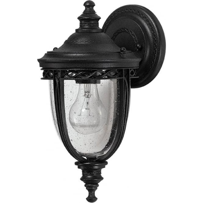 Feiss English Bridle small wall lantern - Black