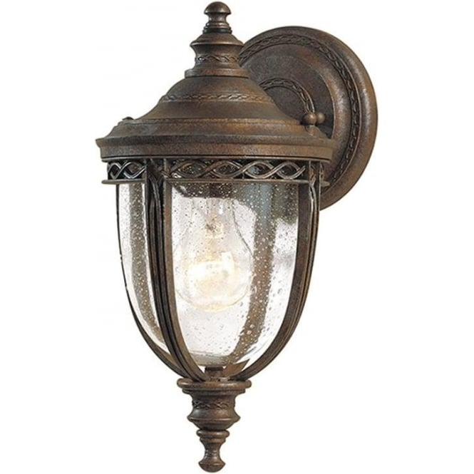 Feiss English Bridle small wall lantern - British Bronze