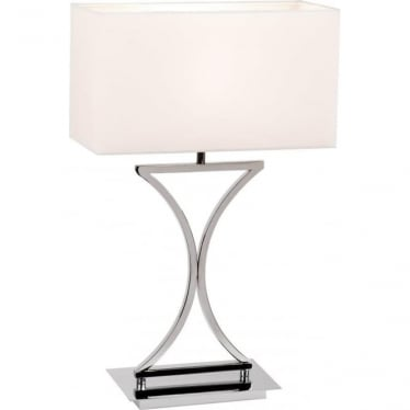 Epalle Table lamp - Chrome Plate & White Cotton Mix