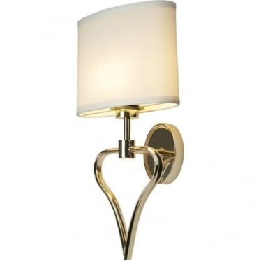 Falmouth Bathroom LED Wall Light IP44 French Gold