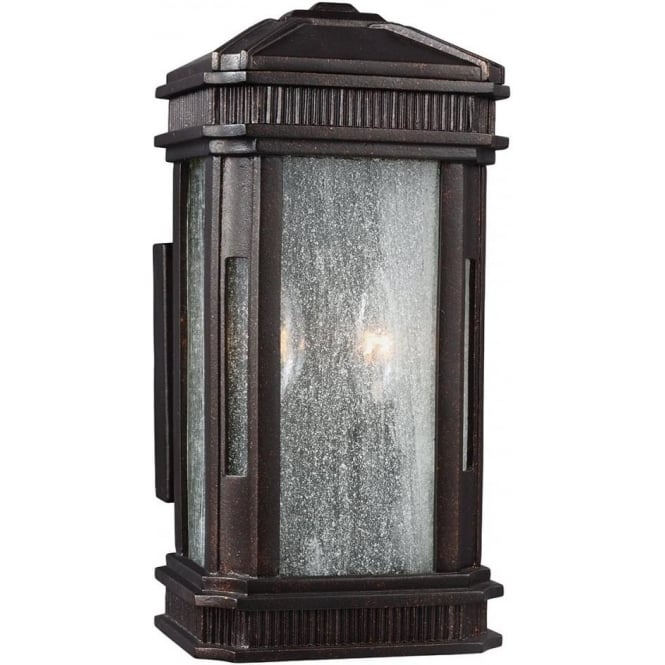 Feiss Federal Small Outdoor Lantern Gilded Bronze