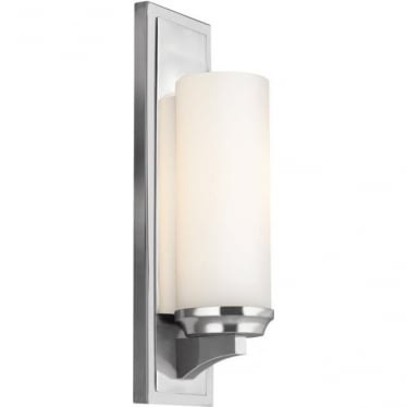 Amalia Single Light Bathroom LED Wall Light IP44 Polished Chrome