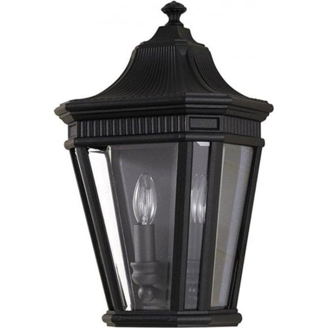 Feiss Cotswold Lane Half wall lantern - Black