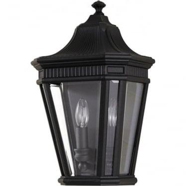 Cotswold Lane Half wall lantern - Black