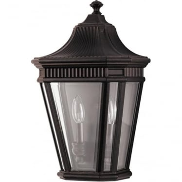 Cotswold Lane Half wall lantern - Bronze