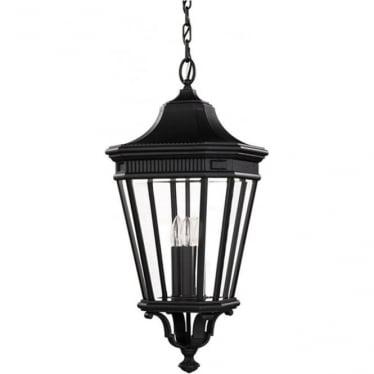 Cotswold Lane large chain lantern - Black
