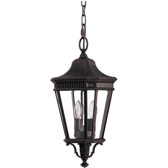 Feiss Cotswold Lane medium chain lantern - Bronze