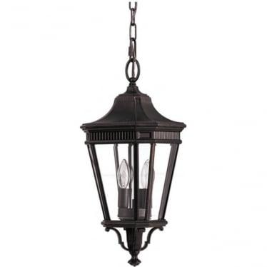 Cotswold Lane medium chain lantern - Bronze