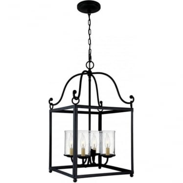 Declaration 4 Light Pendant Antique Forged Iron
