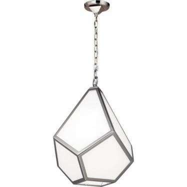 Diamond Medium Pendant Polished Nickel