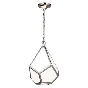 Diamond Small Pendant Polished Nickel
