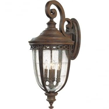 English Bridle extra large wall lantern - British Bronze