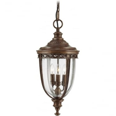 English Bridle large chain lantern - British Bronze
