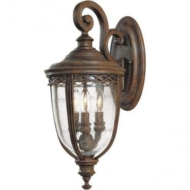 English Bridle medium wall lantern - British Bronze