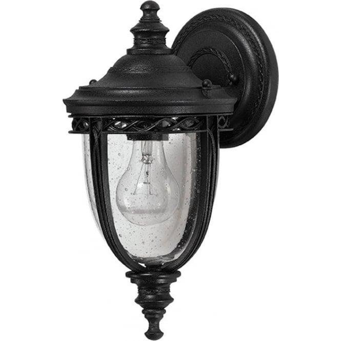 Feiss English Bridle small wall lantern - Black