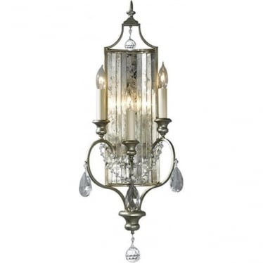 Gianna 3 Light Wall Light Gilded Silver