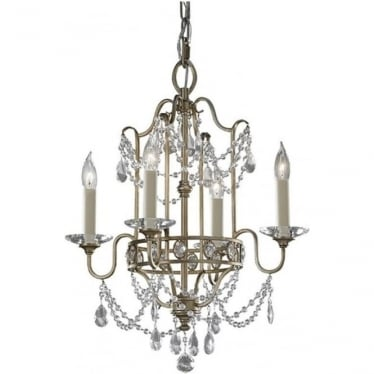Gianna Duo-Mount Chandelier Gilded Silver