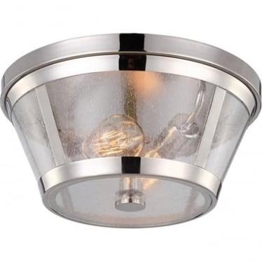 Harrow flush mount fitting Polished Nickel