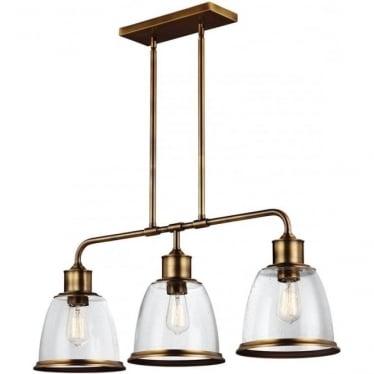 Hobson 3 Light Island Chandelier Aged Brass