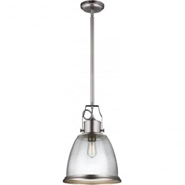 Hobson Large Pendant Satin Nickel