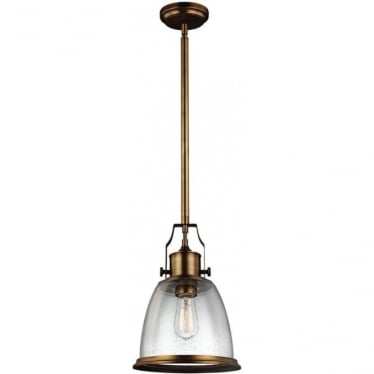Hobson Medium Pendant Aged Brass