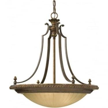 Kelham Hall 4 Light Up Fitting Firenze Gold/British Bronze