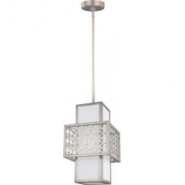 Kenney Single Light Mini-Pendant Sunrise Silver