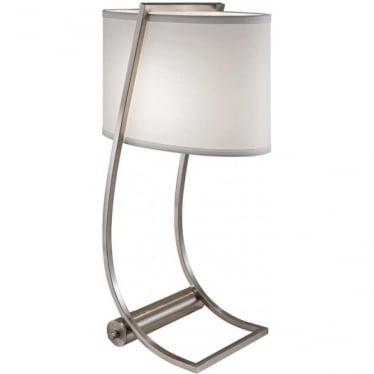Lex Brushed Steel Desk Lamp