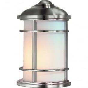 Lighthouse Half Wall Lantern Brushed Steel